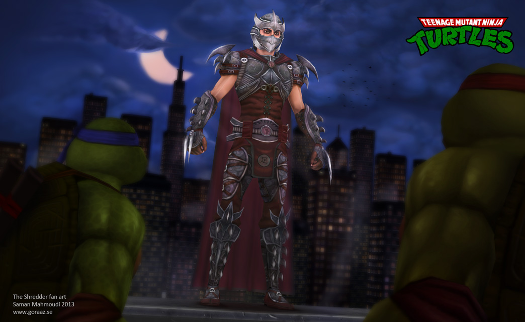 Hand Painted Now You Face The Shredder Polycount